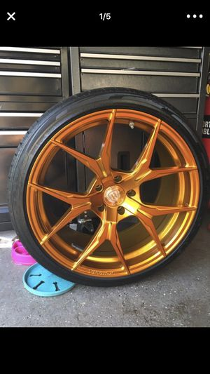 rims (ROHANA) and brand new 20 tires 245/35R20-95V for Sale in Rahway, NJ