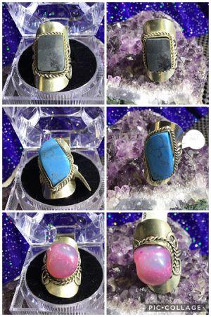 """ALPACA PERUVIAN STONE RINGS!!""real stones! adjustable! for Sale in Torrance, CA"