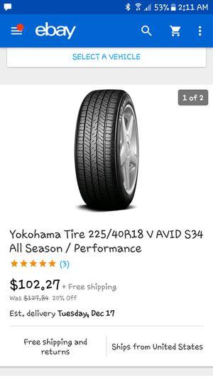 Yokohama tire's for Sale in Kingsport, TN
