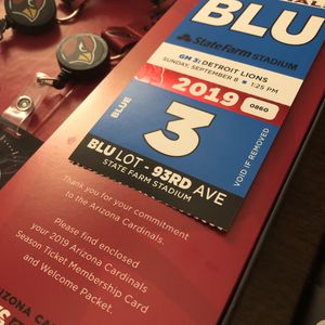 Cardinals vs. Lions Tickets - Row 7 by right Lions tunnel for Sale in Pinetop, AZ