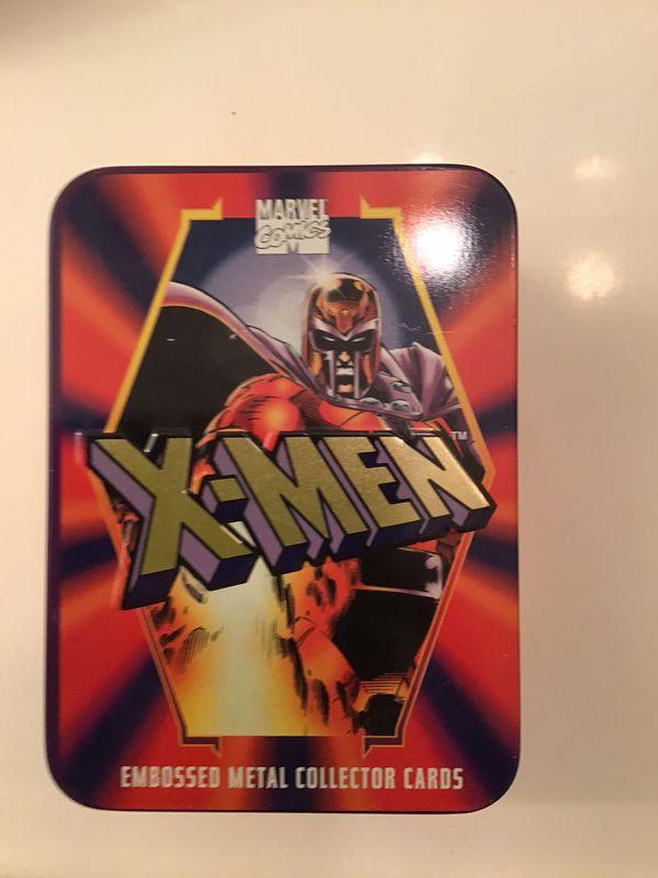 X-men embossed metal collectors card