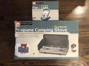 Propane Camping Stove and Fan/Light - New, never used for Sale in Miami, FL