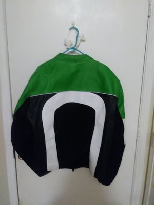 Leather motorcycle sport jacket and helmet for Sale in Friendswood, TX