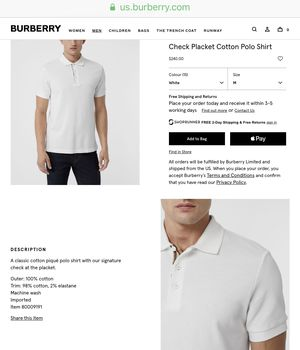 5d6defdfb New - Burberry Placket Polo Shirt (Medium) for Sale in Highland Beach