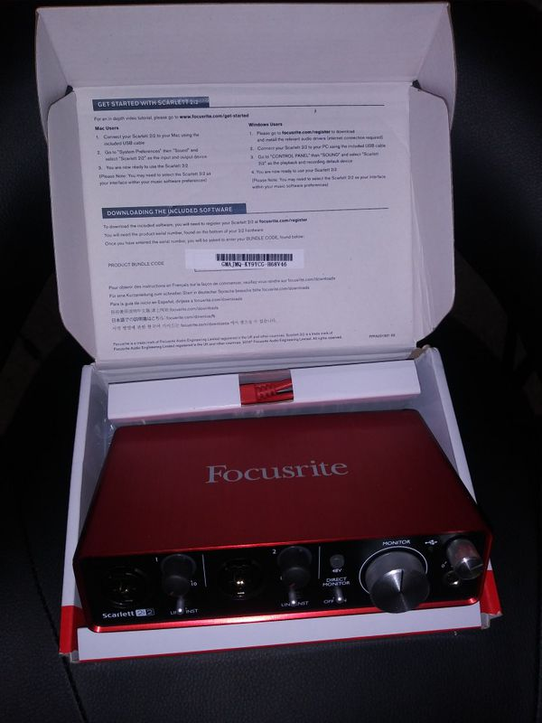 Focusrite Scarlett 2i2 Interface