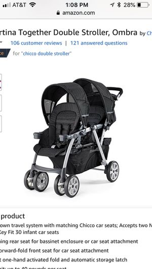 New chicco cortina together double stroller for Sale in Dublin, OH