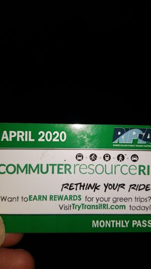 Bus pass. APRIL MONTH for Sale in Warwick, RI