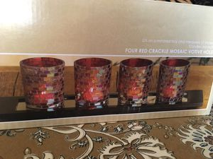 Crackle mosaic candle holders for Sale in Santa Maria, CA