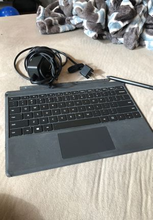 Surface pro Microsoft keyboard attachment, pen, and charger for Sale in Chicago, IL