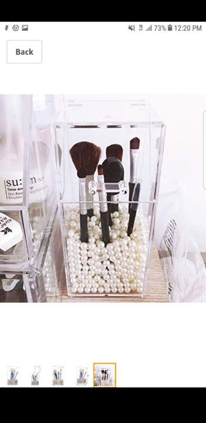 Makeup Brush Holder Case with Beads for Sale in Moreno Valley, CA