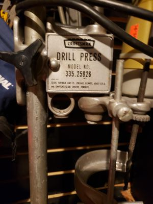 Vintage Craftsman Drill Press for Sale in Prattville, AL