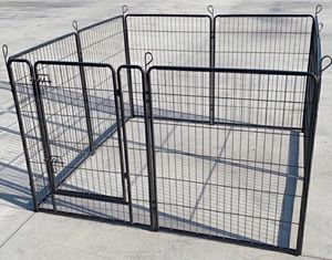 "New 40"" Tall x 32"" Wide Panel Heavy Duty 8 Panels Dog Playpen Pet Safety Fence gate valla Para perros for Sale in Whittier, CA"