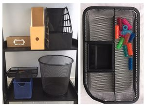 7 various office supply organization and storage bins + trash can for Sale in Tustin, CA