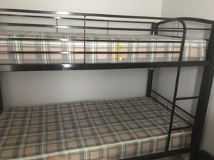 Metal Bunk bed with mattress for Sale in Raleigh, NC