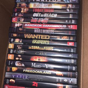 PRICE FIRM 19 DVDs with cases lightly used in excellent condition for Sale in Miami Beach, FL
