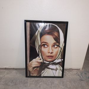 Audrey Hepburn Poster With Frame for Sale in Tolleson, AZ