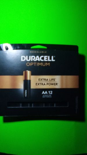 Duracell optimum AA 12 for Sale in Parkland, WA