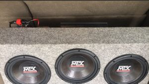 """MTX Triple 10"""" Subs w/ capacitor and amp for Sale in Davenport, IA"""