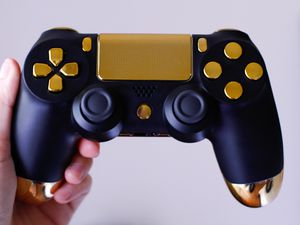 Black & Gold - DUAL SHOCK 4 - Wireless Bluetooth Custom PlayStation Controller - PS4 / PS3 / PC for Sale in Riverside, CA