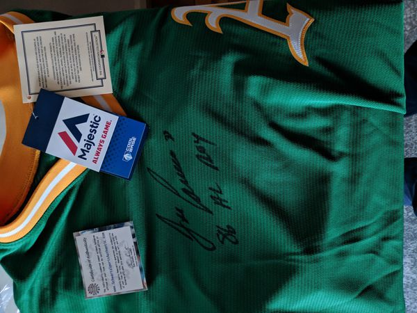 *Super Rare, 86 ROY* Jose Canseco Autographed Jersey with COA