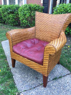 Wicker chair w cushion for Sale in Fairfax, VA