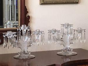 Fostoria Triple Candelabra Pair for Sale in Winter Garden, FL