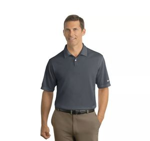 Nike Golf Men's 373749 Dark Grey Dri FIT Pebble Texture Polo Size Small for Sale in Woonsocket, RI