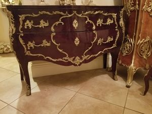 Antique furniture cabinet w bronze details for Sale in Miami, FL