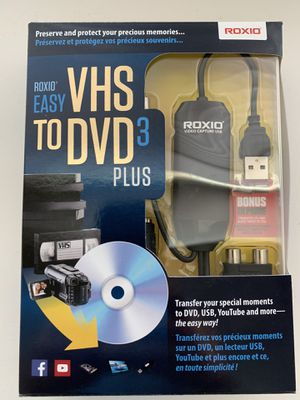 Roxio easy VHS TO DVD 3Plus for Sale in Mansfield, TX