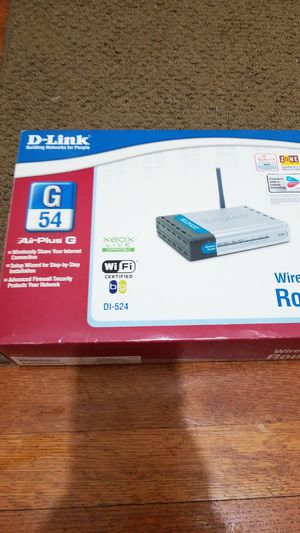 Brand new D-link building networks for people G54 airplus G wireless router wifi certified DI-524 for Sale in Camp Hill, PA