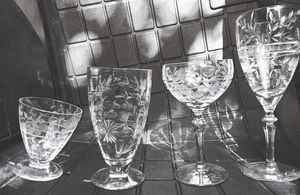 33 Piece Antique Lennox Etched Crystal Glasses for Sale in Austin, TX