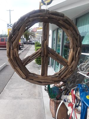 Cool large Driftwood peace sign for Sale in Dunedin, FL