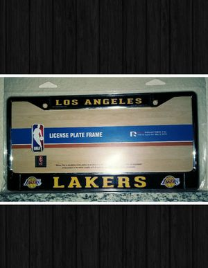LOS ANGELES LAKERS CHROME METAL LICENSE PLATE FRAME for Sale in Las Vegas, NV