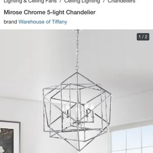Chrome 5 Light Chandelier for Sale in Huntington Beach, CA