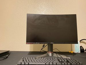 Curved msi monitor for Sale in Sacramento, CA