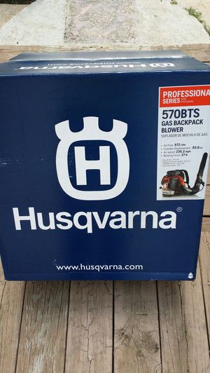( PRICE IS FIRM ) HUSQVARNA 570 BTS BACK PACK BLOWER AIR SPEED 236 MPH COMERCIAL GRADE for Sale in Winston-Salem, NC