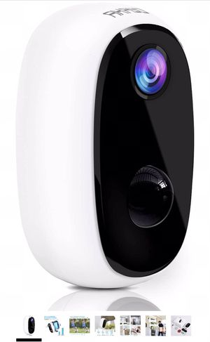 Wireless Security Camera Outdoor/Indoor 1080P, 10000mAh Rechargeable Battery-Powered WiFi Camera for Home Security, Night Vision, 2-Way Audio, Motion for Sale in Powell, OH