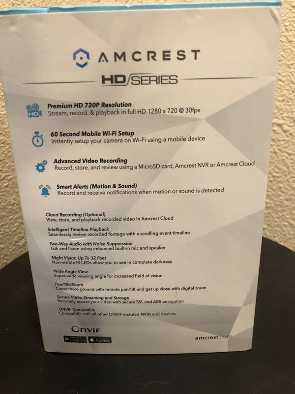 Two Amcrest WiFi cameras brand new for Sale in Oregon City, OR - OfferUp