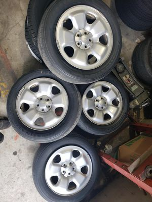 Jeep wheels with tires for Sale in New Braunfels, TX
