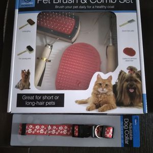 Dog Brush Set With Collar for Sale in Lake City, FL