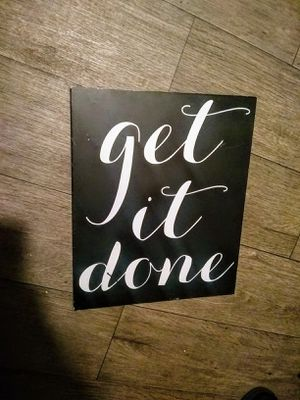 cute black and white motivational office decor sign for Sale in Castle Dale, UT