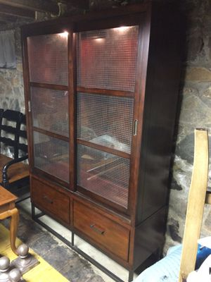 COOL URBAN DESIGN DISPLAY / CHINA CABINET / NO GLASS SHELF INSERTS / 16x50x72 for Sale in Catonsville, MD