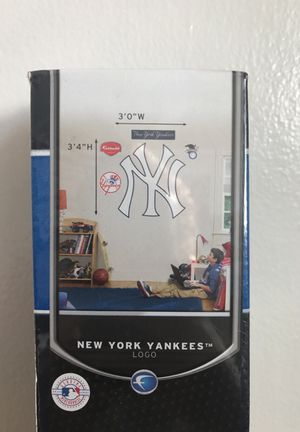 "New York Yankees Logo Fathead Wall Decal 3'0""W x 3'4""H for Sale in Manassas, VA"