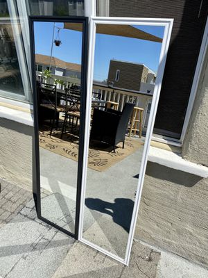 """Black/white mirror 49.5"""" x 13.5"""" Great for rooms and make up! Can deliver San Diego county $5-$10 for Sale in Coronado, CA"""