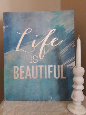 "Decor: ""Life is Beautiful"" for Sale in San Antonio, TX"