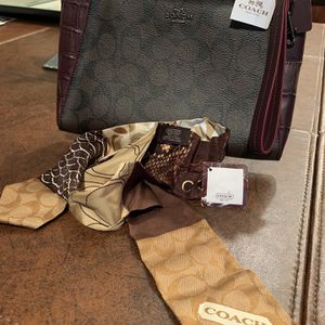 NEW COACH Clutch & COACH Ponytail/Necktie Scarf for Sale in Fort Worth, TX