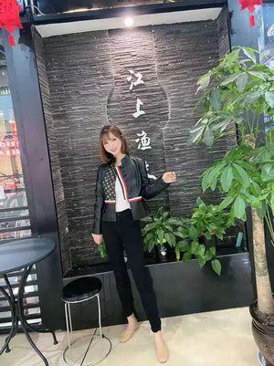 women's short sheepskin print jacket, casual leather jacket, for Sale in Atlanta, GA