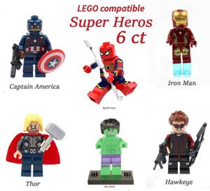 Minifigures Super Hero DC Marvel Avengers works w Lego 6 ct Mini Figures for Sale in Upland, CA