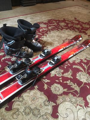 Solomon x Wing 154cm skis with boots for Sale for sale  West Orange, NJ