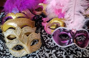 14 New Masks , Masquerade, Quinceañera, Photo Booth Props for Sale in Houston, TX
